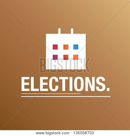 Election brown background with calendar for business