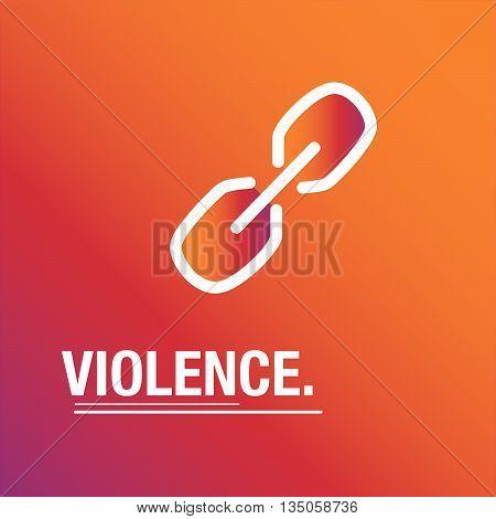 Violence orange vector background for international information