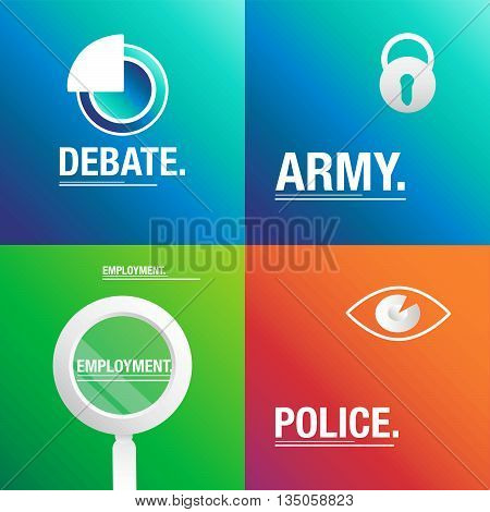 Debate background about army, police and employment