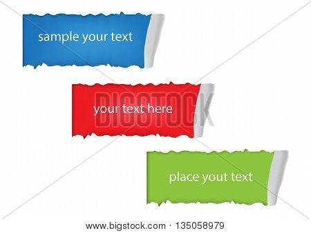 Torn Paper with space for text with color background