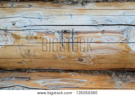 wooden background with copyspace Roman numeral two