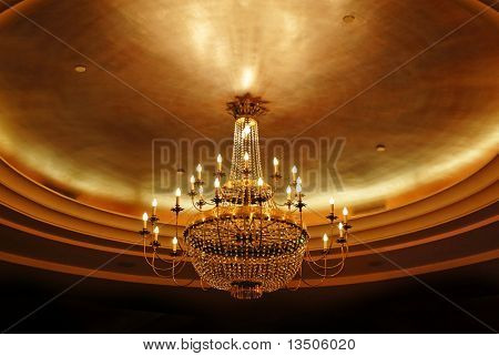 elegant crystal ceiling lamp