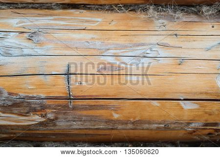 Roman numeral one on wooden background with copyspace