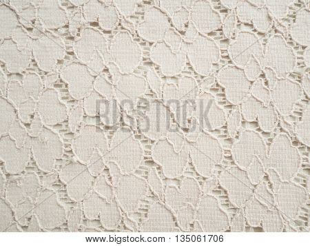 The Lace pattern vintage ole white color  texture