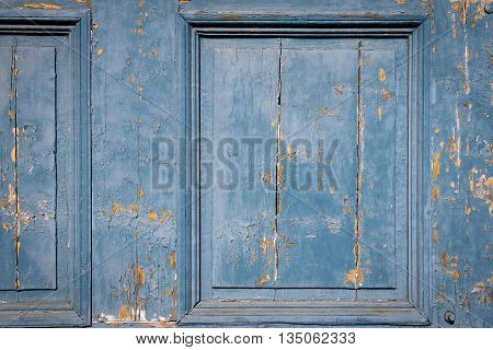 vintage texture of an old wooden board of doors or gate closeup for an ancient background or for wallpaper