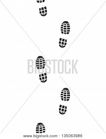 Black prints of shoes , seamless , vector