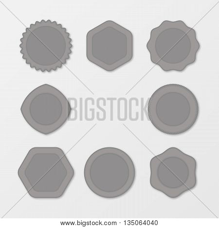 Set of grey Stamps. Distressed Stamp Texture . Post Stamp Collection . Vector Stamps . Circle Stamps . The concept for your business, web sites, presentations, advertising etc.