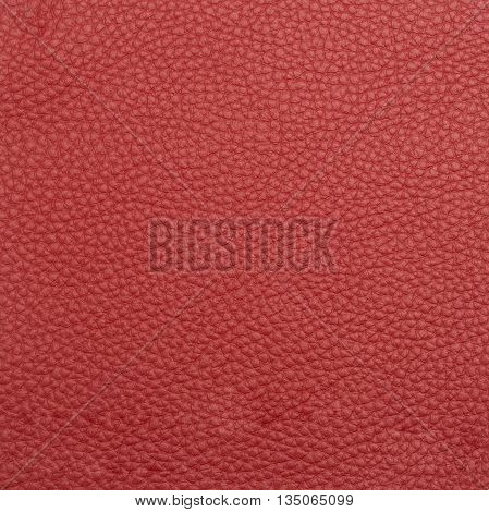 Red leather macro shot texture for background