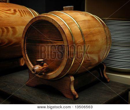 elegant wood barrel