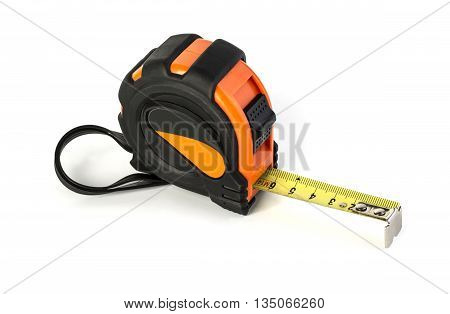 the tape measure isolated on white background