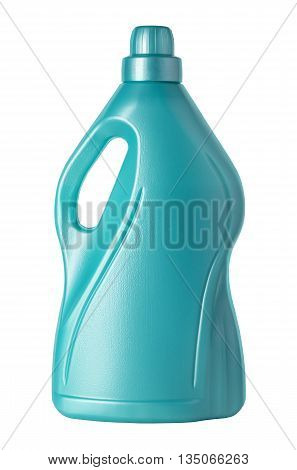 plastic jerry can isolated on white with clipping path