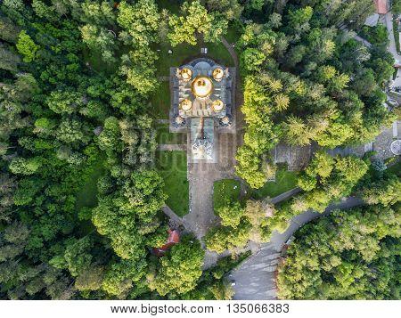 Aerial View Of The Church Near Shipka