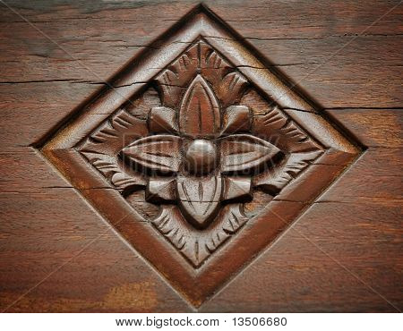 floral woodcarving background