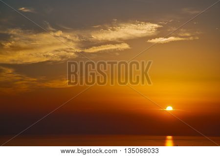 In Santorini Hill    Greece Sunset And The Sky Mediterranean Red Sea