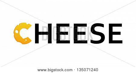 Cheese Logo, Vector Illustration isolated on white background