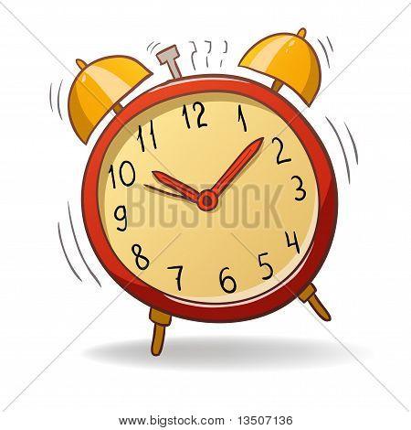 Cartoon Red Alarm Clock