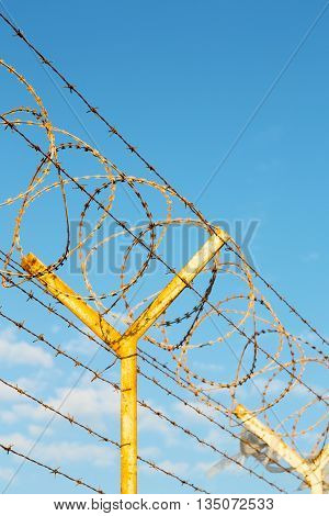 In Oman Barbwire  Cloudy