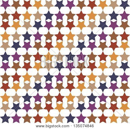 Full Colored Hypnotic Background Seamless Pattern. EPS10