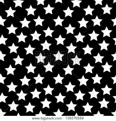 Colored Star Hypnotic Background Seamless Pattern. EPS10