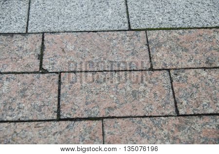 City pavement texture brick road pattern made of granite