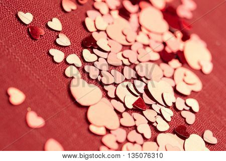 heart confetti background