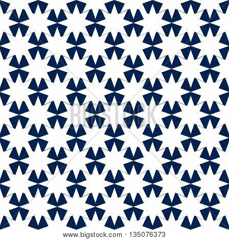 Blue and White Hypnotic Background Seamless Pattern. EPS10