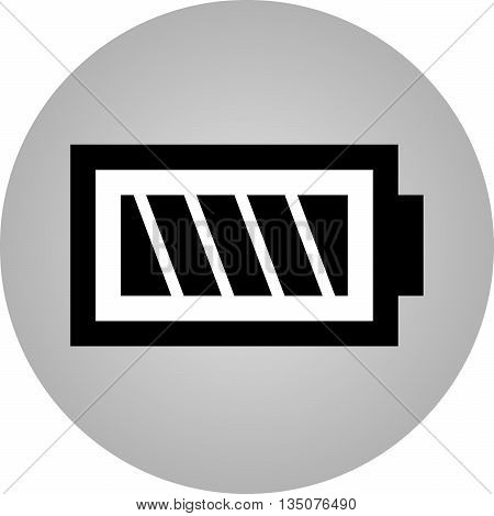 Symbol battery black and white icon - vector flat design. Eps 10