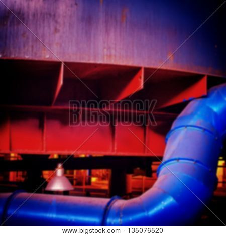 blurred background industrial equipment mining and concentrating plant