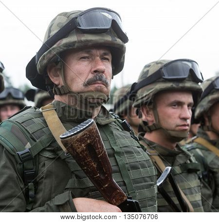 Soldiers At Training Center Of National Guard Of Ukraine