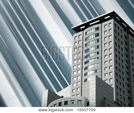 modern building on montage background