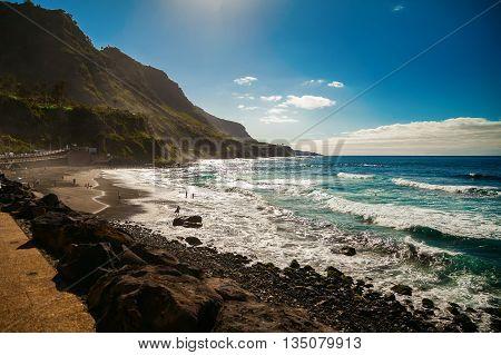 Beautiful Windy Beach Playa El Socorro