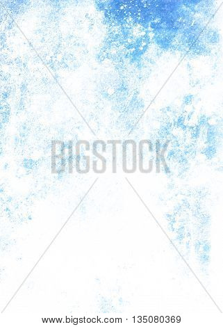 Color Abstract Background. Beautiful Winter Effect. Blue  And White Color.