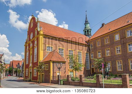 Gymnasialchurch in the historic center of Meppen Germany