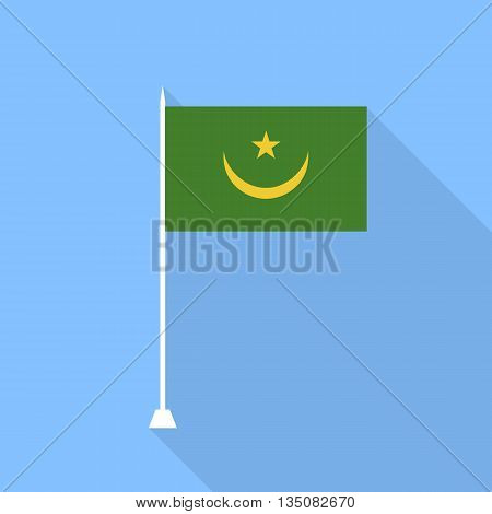 Mauritania Flag. Vector illustration in a flat style.