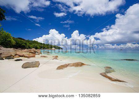 The beautiful Anze Lazio beach, Seychelles
