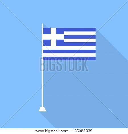 Flag of Greece.Vector illustration in a flat style.