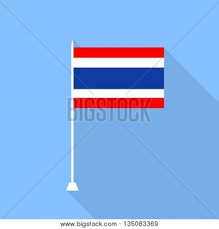 Flag of Thailand. Vector illustration in a flat style.