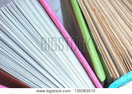 Old Book. Seamless Texture Of Book Pages. Vintage Old Books. Books And Reading Are Essential For Sel