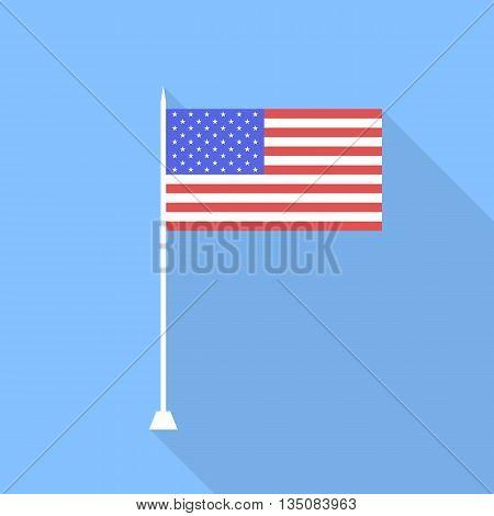 USA flag . Vector illustration flat style .