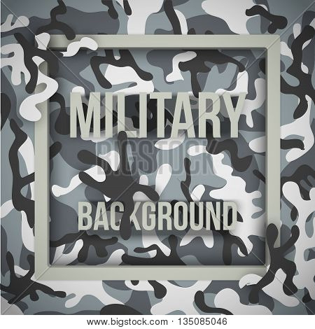 Military modern city camouflage background with tags. Army symbol of defense. Vector Illustration.