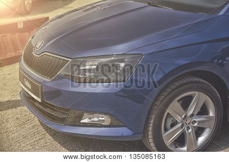 Wroclaw, Poland, May 28, 2016: Close Up On Skoda Fabia  On Motoshow On May 28, 2016 In Poland