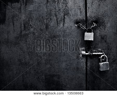 lock on iron door