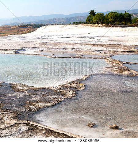 Bath And Travertine Water Abstract In Pamukkale Turkey Asia The Old Calcium
