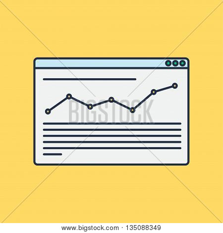 Web Template Web Elements for site of blog and infographics. Vector