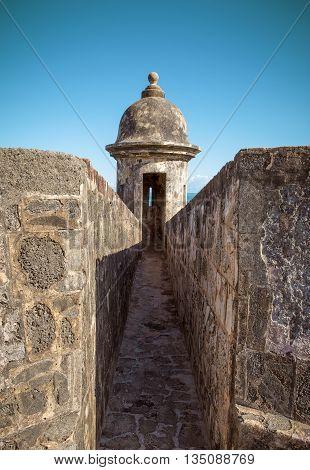 Tower of Castillo San Felipe Del Morro in Old San Juan Puerto Rico