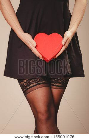 Woman Hands Holding Heart