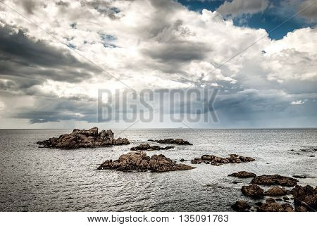 Atlantic Coast Od Northern Spain With Sea And Clouds.