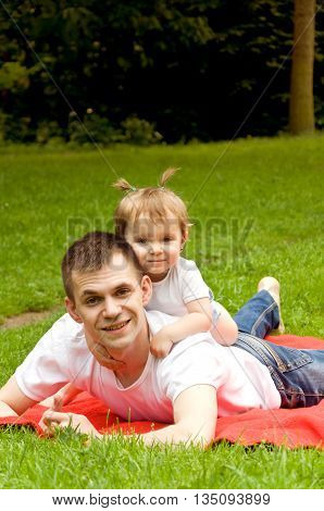 family values. Dad spends time with his little daughter