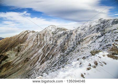 Iezer mountains in romania, in the late autumn