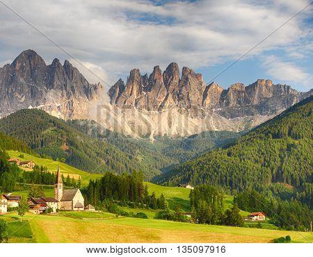 Dolomites alps Mountain in Val di Funes